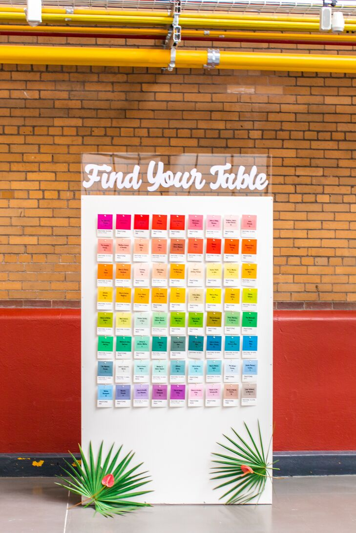 Modern and Colorful Seating Chart Sign