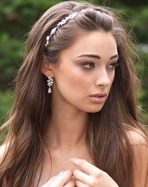 Dareth Colburn Marcella Crystal Hair Vine (TI-3331) Silver Headband
