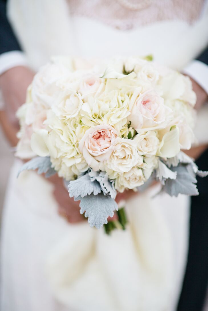 Blush and Ivory Rose Bridal Bouquet