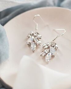 Dareth Colburn Crystal Leaf Earrings (JE-4159-OP) Wedding Earring photo