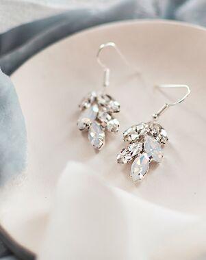 Dareth Colburn Crystal Leaf Earrings (JE-4159-OP) Wedding Earring photo
