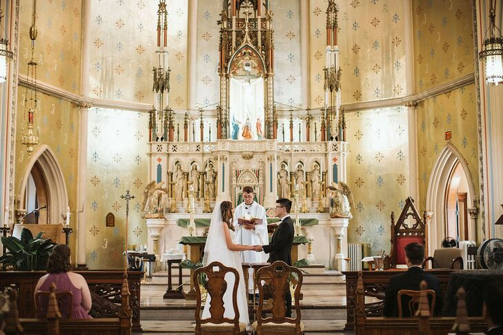 Religious Ceremony at Ste. Anne de Detroit Catholic Church in Detroit, Michigan