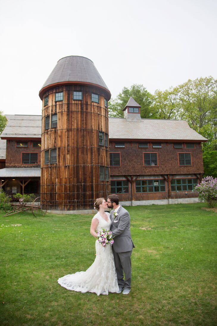For their wedding, Rachel Venuti (29 and a special education teacher) and Mark Venuti (31 and a painter) planned an intimate affair with rustic flair
