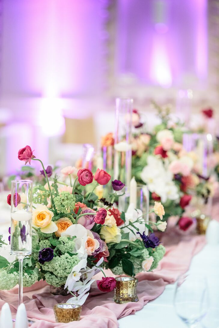 Elegant Centerpieces with Peonies and Garden Roses