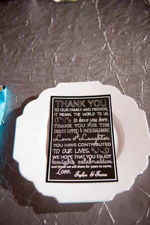 Black-and-White Chalkboard-Inspired Wedding Thank-You Notes