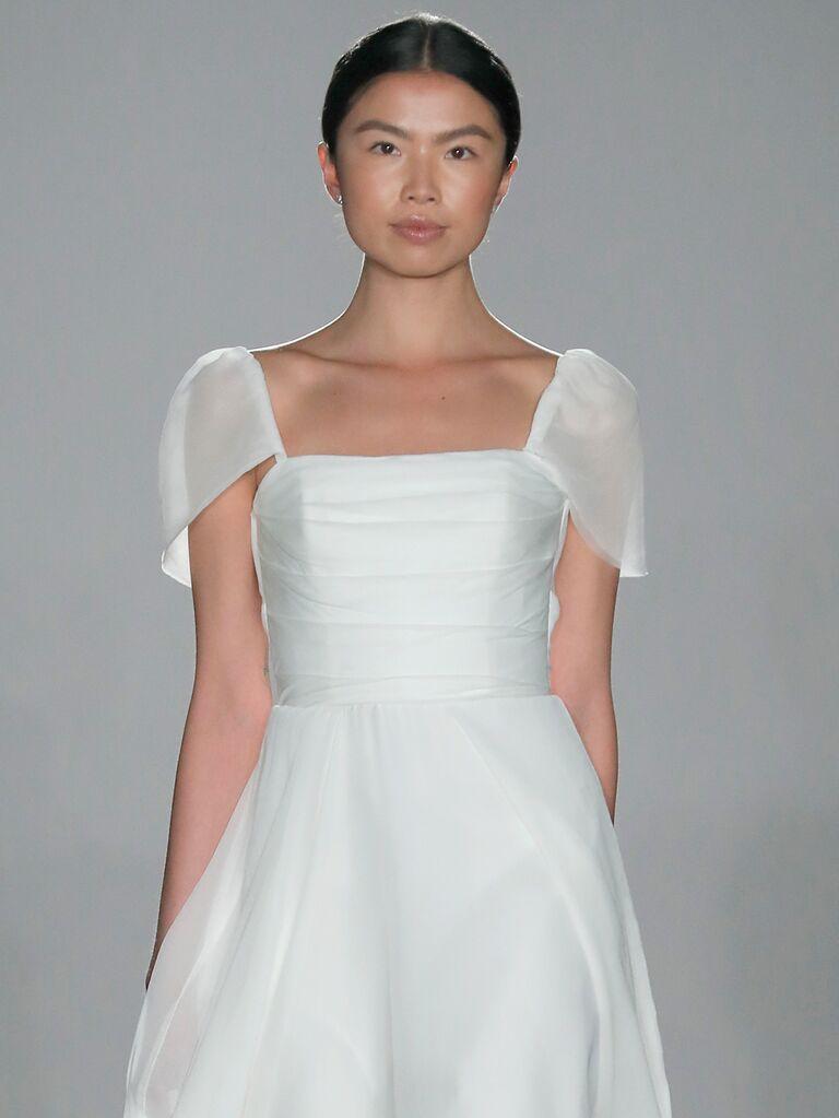 2fd2ee1b5a4 Amsale Little White Dress Spring 2020  Bridal Fashion Week Photos