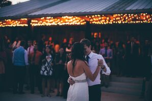 First Dance at Summer Farm Wedding