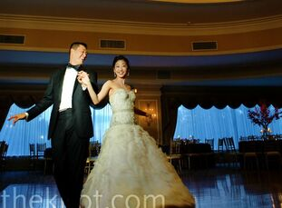 The Bride Diana Eng, 33, an attorney  The GroomJimmy Wang, 37, an attorney The Date September 4  Diana and Jimmy worked with a purple and gray color p