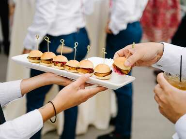 passed sliders wedding appetizers