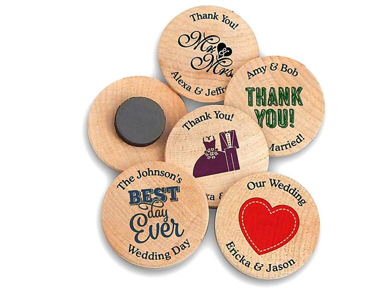 personalized wooden magnets