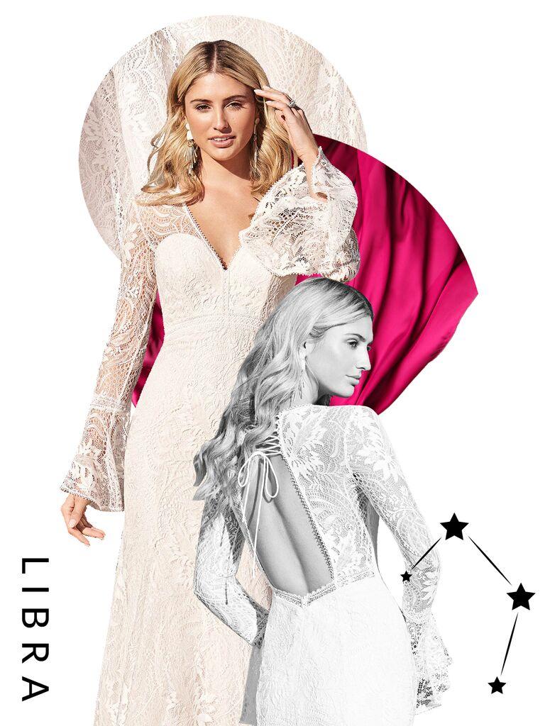 Libra wedding dress