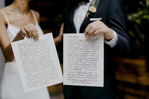 Custom Calligraphed Vows at Brooklyn, New York, Elopement