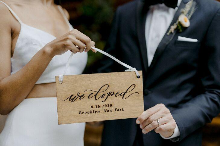 Custom Wooden Sign for Brooklyn, New York, Elopement