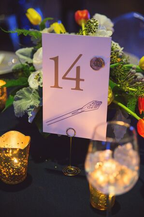 Harry Potter–Themed Table Number