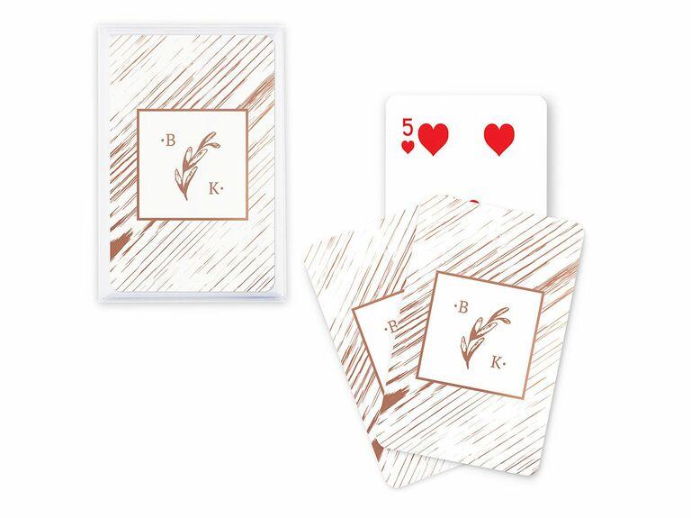 rustic card wedding favors