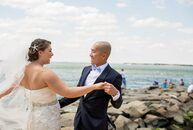 Inspired by their location, Long Beach Island, Kaitlin Graf (24 and a claims specialist) and Bryan Agulto (32 and a produce manager) chose a nautical