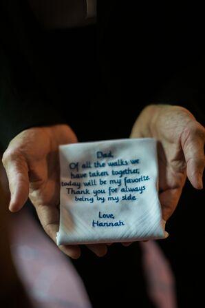 Hand-Stitched Handkerchief Wedding Gift