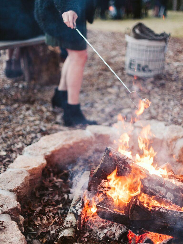Fall wedding ideas bonfire