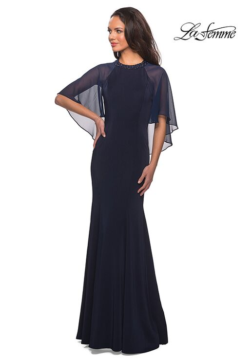 La Femme Evening 25006 Blue Mother Of The Bride Dress