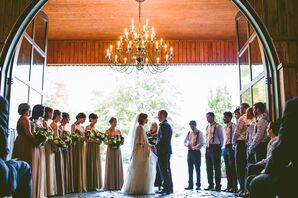 Sarah and Paul's Rustic Wedding Ceremony