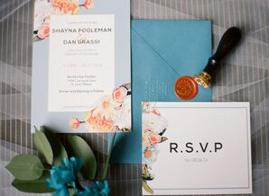 Custom Invitations with Flower Designs