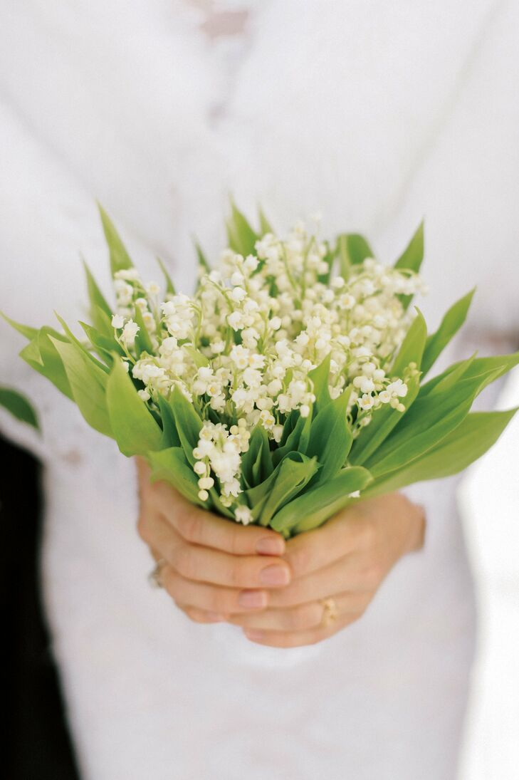 Josie carried a small bouquet of her favorite flower, lily of the valley.