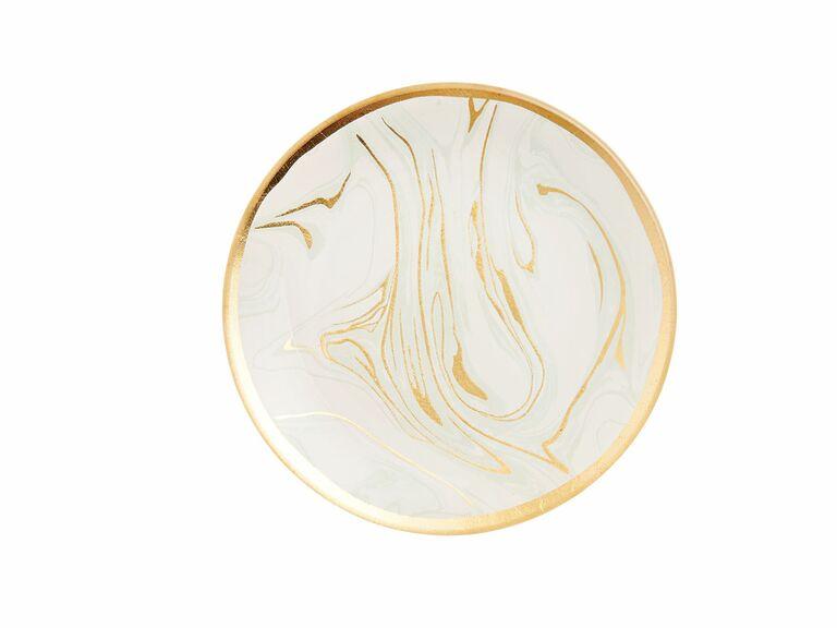 Paper Source blush marble trinket dish