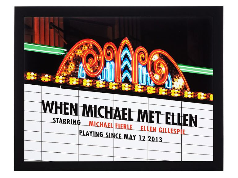 Custom movie marquee picture gift