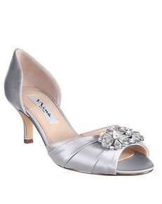 Nina Bridal Charisa_Silver-Satin Black, Blue, Ivory, Champagne Shoe