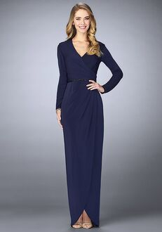 La Femme Evening 24927 Blue Mother Of The Bride Dress