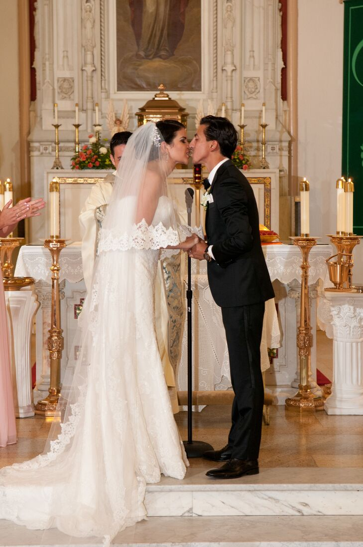 The couple had a traditional full length Catholic mass for their ceremony.