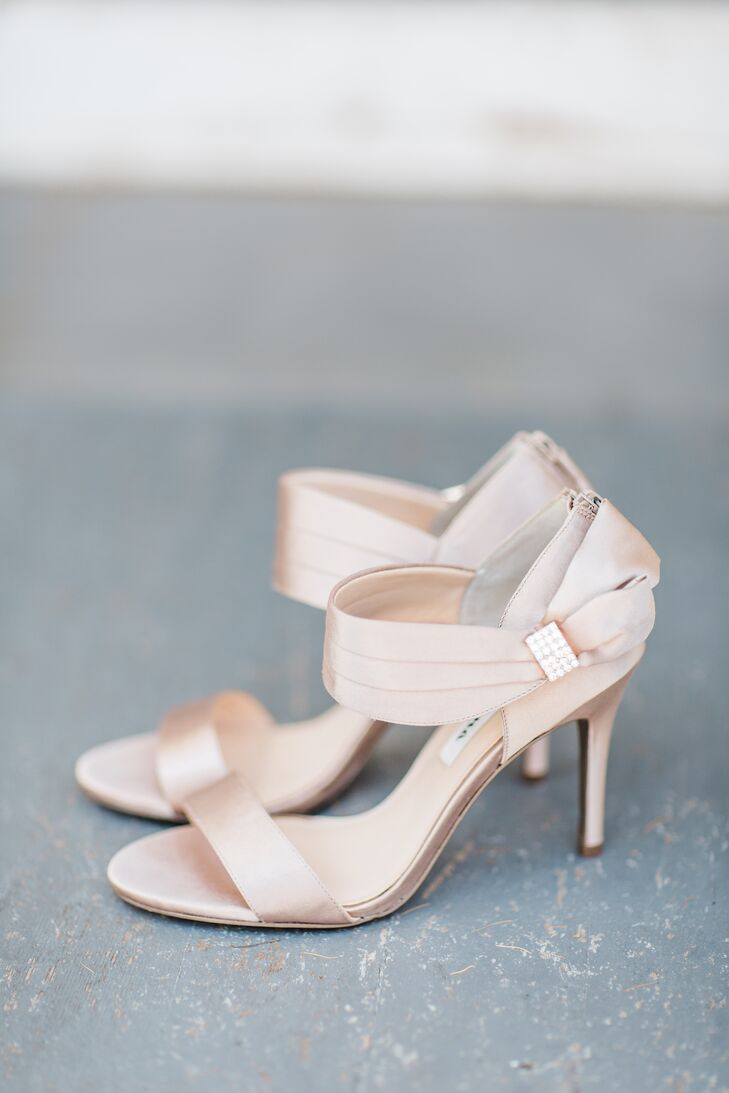 Crystal Embellished Blush Heels