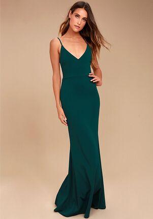 Lulus Infinite Glory Forest Green Maxi Dress V-Neck Bridesmaid Dress