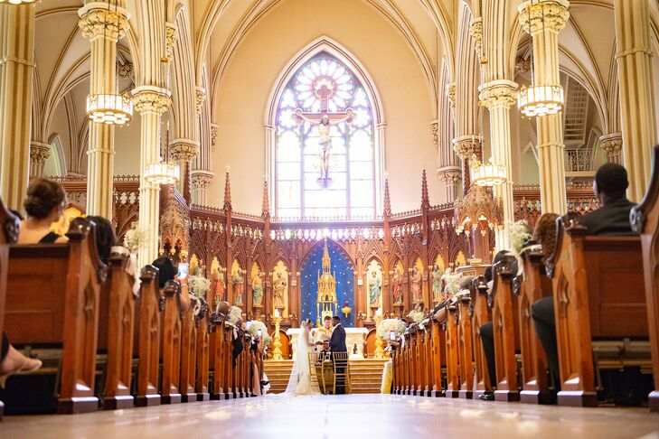 Wedding Ceremony at Basilica of St. Patrick's Old Cathedral in New York City