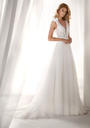 Nicole Milano 2019 Collection NIAB19075 Sheath Wedding Dress