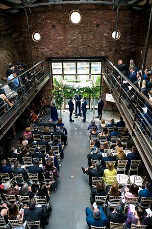 Jewish, Same-Sex Wedding Ceremony in Long Island City, New York