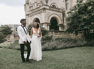 """Andrea and CJ settled on a simple style for their nuptials so making memories and forming connections would be the stars of the show. """"Our main focus"""