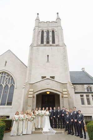 The Wedding Party at First Presbyterian Church in Howell, MI