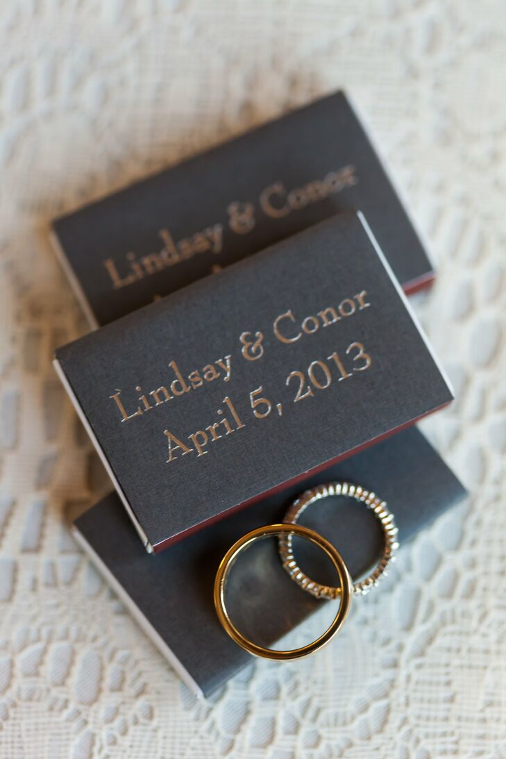 Monogrammed Matchbook Favors