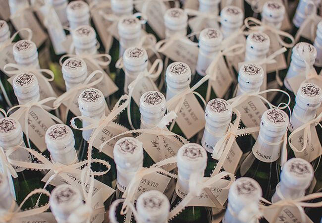 champagne wedding favors | Luxury Estate Weddings & Events | Blog.theknot.com