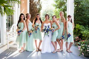 Mismatched, Pale Green Bridesmaid Dresses
