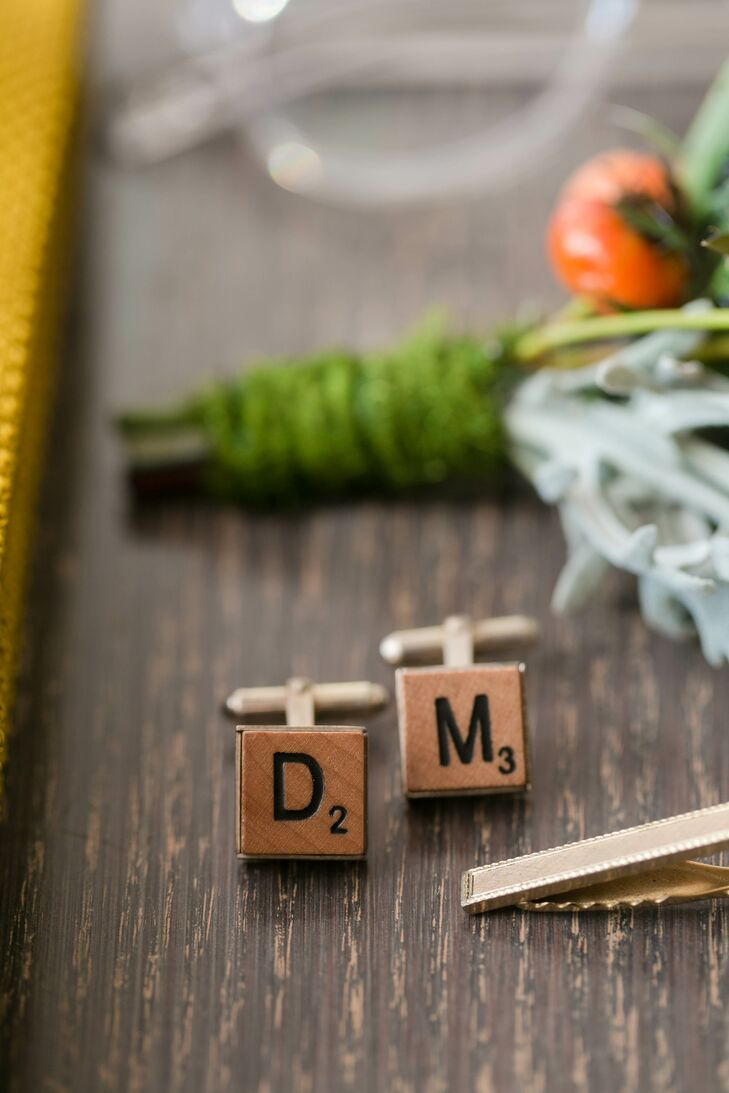 Scrabble-Inspired Initial Cuff Links