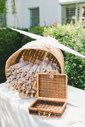 Parasols for Outdoor Ceremony