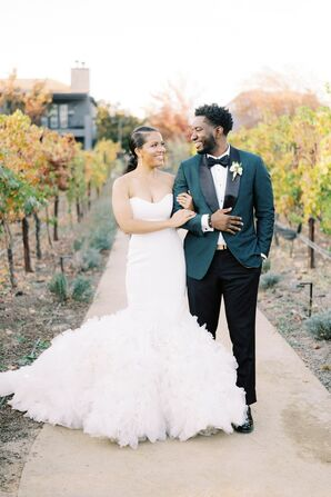 Couple Portraits at Wedding in Yountville, California