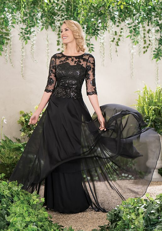 Jade Mother of the Bride by Jasmine J195014 Black Mother Of The Bride Dress
