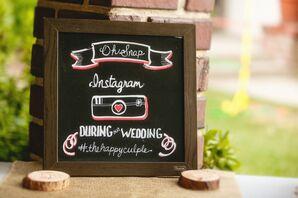 Instagram Chalkboard Wedding Sign