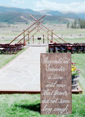 Handpainted Ceremony Sign