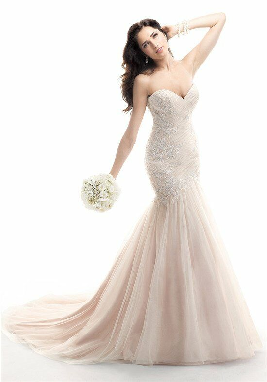 Maggie sottero haven wedding dress the knot for The knot gift registry