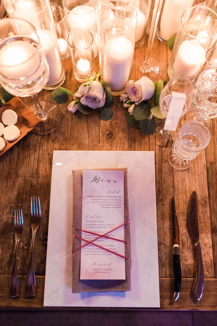 Rustic Table Setting with Simple Menus