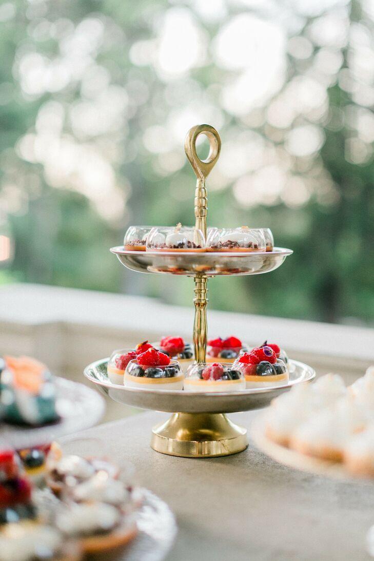 Fruit Tarts for Dessert at Wedding at Montalvo Arts Center in Saratoga, California